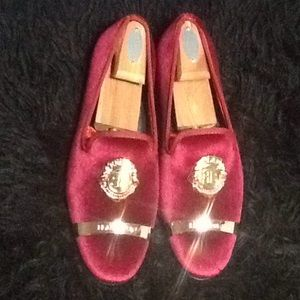 Men's Wine Red Loafers